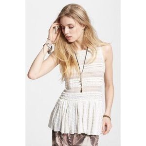 Intimately Textured Lace Tunic at Free People